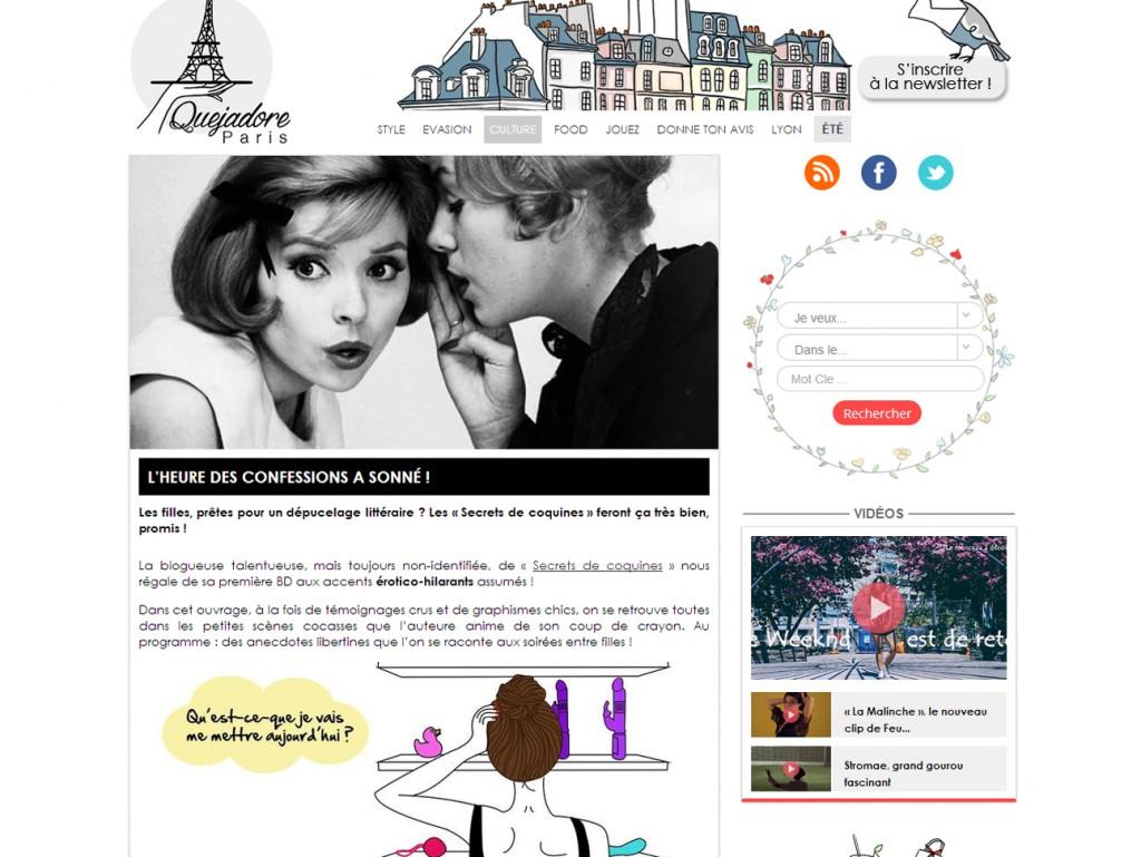 Secrets de coquines - Que j'adore Paris